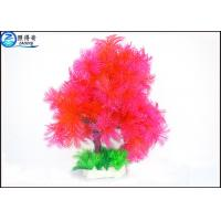 Best Little Lush Trees Plastic Simulation Fish Tank Plants With Red / Green / Blue Customized wholesale