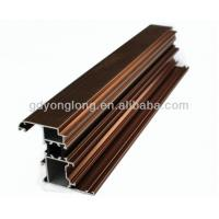 China 6063 T Shaped Wooden Grain Aluminium Profile Solar And Bronze Aluminium Profile on sale