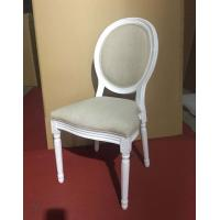 Best Restaurant  Wedding Dining Chairs Round Back Solid Wooden Material wholesale