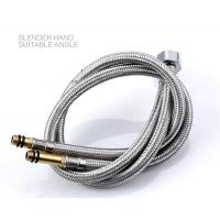 Best ZYD-B03 304 Stainless Steel Wire flexible braided Knitted hose for wash basins inlet hose/kitchen sinks wholesale