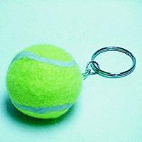 Best Gift sending tennis ball keychain ,promotional item wholesale