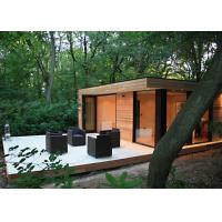 China Beautiful Prefab Garden Studio WPC Cladding With Double Glass Windows on sale