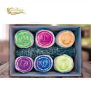 China 6 Pcs Fruit Scent Bath Bomb Gift Sets , Organic Shea Butter Coconut Oil Bath Bomb on sale
