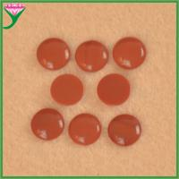 Best Hot Sale cabochon flat bottom round synthetic red coral decorative glass gems wholesale