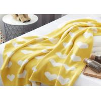 Best 12GG Computer Knitted Soft Baby Blankets For Children , Cute Heart Logo wholesale