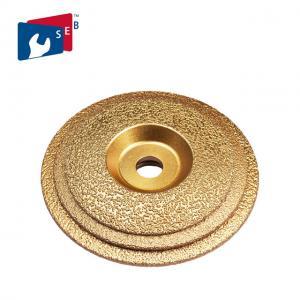 Best 125mm Vacuum Brazed Diamond Cup Wheel , Metal Bond Diamond Grinding Wheels wholesale