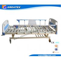 Best 2 Cranks Manual Hospital Bed 2 Functions 2100*900*500 Mm With ABS Dining Board wholesale