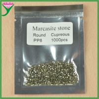 Best wholesale AAA quality pp8 round shaped cut loose synthetic marcasite wholesale