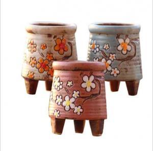 Best Korean garden pot flower decor hand-painted ceramic flower pots wholesale