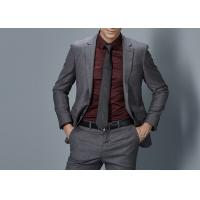Best Cotton Formal Male Grey 2 Piece Suit Two Straight Pockets S--XXXL Size Regular Fit wholesale