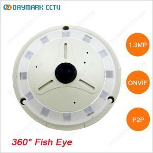 Best 1.3MP HD Fisheye IP Camera 360 degree Panoramic View 128G SD Card wholesale