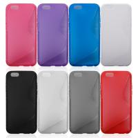 China Mobile Phone Covers S-line Soft TPU& Plastic Back Shell Case For Apple Iphone 6 on sale