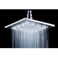 Buy cheap Large Square Ceiling Ball Joint Rain Shower Head With White Led Light from wholesalers