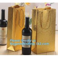 China Printed Luxury Wide Base Brown Kraft Paper Carrier Bag,coating black luxury paper carrier bag for printing with ribbon on sale
