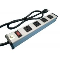 Best Metal 4 Way Multi Outlet Power Strip With On Off Switch For Workshop / Office wholesale