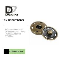 Cheap Brass Custom  On Snap Buttons For Overcoat Down Jacket / Cotton - Padded Clothes for sale