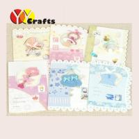 Best Elegant for baby shower invitation card white color paper with printing wholesale