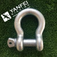 China Qingdao Yanfei Rigging -Rigging Hardware-1/4 5/16 Electric galvanized G209 Bow Type Shackle on sale