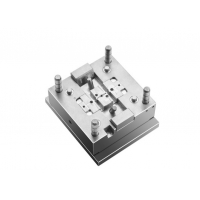 China 1+1 Cavity PBT GF Plug In Metal Insert Plastic Injection Molding on sale