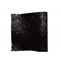 Best PU Textile Chunky Glitter Fabric Wall Coverings Black Wallpaper 25cm*138cm wholesale