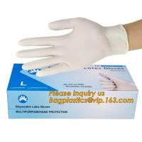 Best Powder-free non-sterile 100% natural rubber latex examination gloves /gloves latex medical consumables bagease bagplasti wholesale