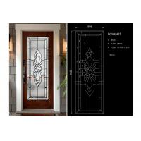 Cheap Arctic Patterned Window Door Suit Decorative Frosted Glass Brass / Nickel / Patina for sale