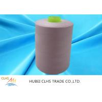 Best 100 Polyester Spun Yarn 20s 30s , Dyed Polyester Twisted Yarn Low Water Shrinkage wholesale