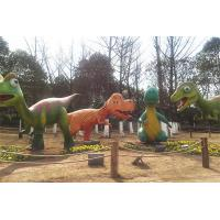 China Amusement Park Fiberglass Dinosaur Mother And Daughter Normal Steel Frame Structure on sale