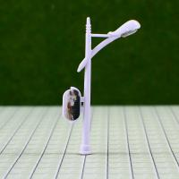 Best 6V Billboard Street Plastic Scale Model Lamp Posts for Train Layout 5cm wholesale
