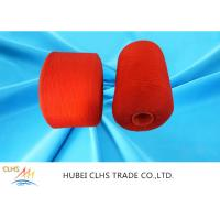 Best Red Polyester Dyed Yarn Low Shrinkage , Core Spun Polyester Sewing Thread wholesale
