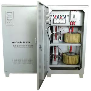 China 60KVA High-precision Single Phase Aluminum/Copper Coil Automatic Voltage Stabilizer on sale