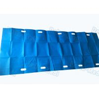 China Blue Color Customized Surgical Patient Transfer Slide Sheets With Slot Holes on sale