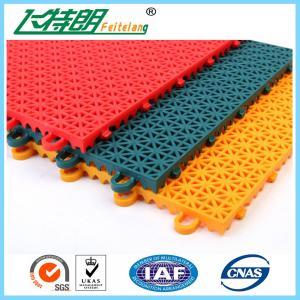 PP Installation Rubber Interlocking Floor Mats For Tennis / Basketball Court