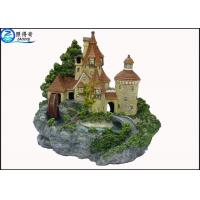 Best Luxury Castle Aquarium Resin Ornaments With Landscaping Rockery And Waterwheel wholesale