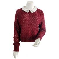 Best Red Jewelry Embelishment Collar Pullover Sweaters Bramble Stitches Jumper Detachable Collar wholesale