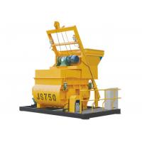 China JS750 Electric Horizontal Twin Spiral Shaft Beton Concrete Mixer 750 Liter With Bucket Hopper on sale