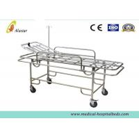China Four Wheels Ambulance Stretcher Trolley , Hospital Stainless Steel Stretcher Cart ALS-S017 on sale