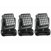 Best Top 1 Flat 25 x 12w High Lumen American CREE, RGBW Color Mixing  LED Moving Head Light / Square DJ Moving Head Lights wholesale