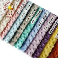 Best 360gsm top quality various color minky dot fabric wholesale wholesale