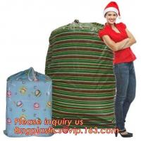 Best Gift Toy Drawstring Storage Packing Bag Giant Plastic Gift Poly Santa wholesale