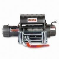 Best Heavty Duty Off-road Winch with 12,000lbs Rated Line Pulling and 4-way Roller Fair Lead wholesale