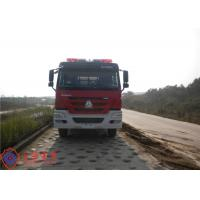 China 6x4 Drive Type Fire Fighting Truck Red Painting With 100W Alarm Control System on sale