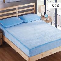 China Safe Rest Memory Foam Mattress Protector 100 Cotton Flannel Material Full Size Purple Color on sale