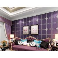 China Purple Color Suede Wallpaper Geometric Design Sofa Backgroung Chinese Factory Supplier on sale