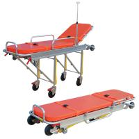 China Anti Corrosion Patient Transport Stretchers , Collapsible Ambulance Trolley on sale