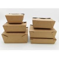Best Microwavable Stackable Folding Cardboard Takeaway Food Containers Recyclable wholesale