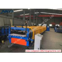 China PLC Control Cold Roll Forming Machine For Zigzag / Fencing Panel on sale
