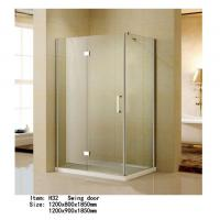 Best Rectangle Folding Frameless Glass Shower Enclosures With Stainless Steel Hinges Fixed wholesale