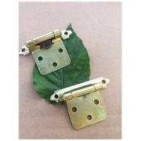 China Yellow Color Chrome Butterfly Cabinet Hinges  Self Closing For Kitchen Cabinet Door on sale