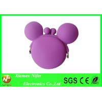 Best Eco-friendly Small Purple Silicone Pouch Wallet Waterproof / Corrosion Resistance wholesale